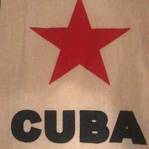 Cuban star canvas tote bag
